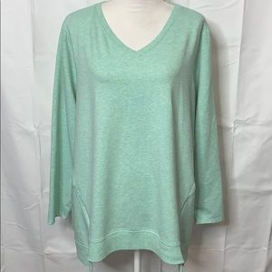 LOGO Lori Goldstein French Terry Tunic Size 3X